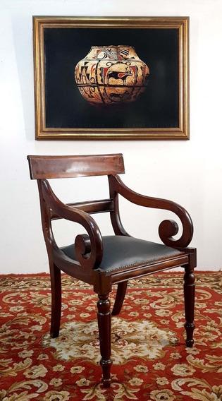 Antiguo Sobrio Gran Sillon Presidente Gerente Lectura (4504)