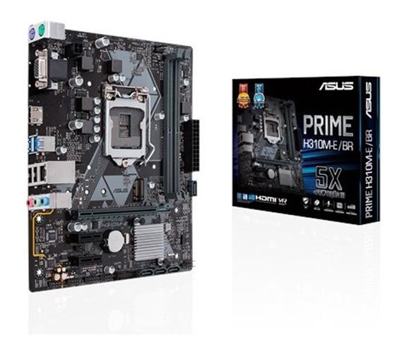 Placa Mae Asus H310m-e/br Prime Lga 1151 Ddr4 Matx 8 Geração