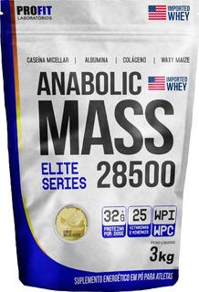 Hipercalórico Anabolic Mass 28500 3kg - Profit Labs