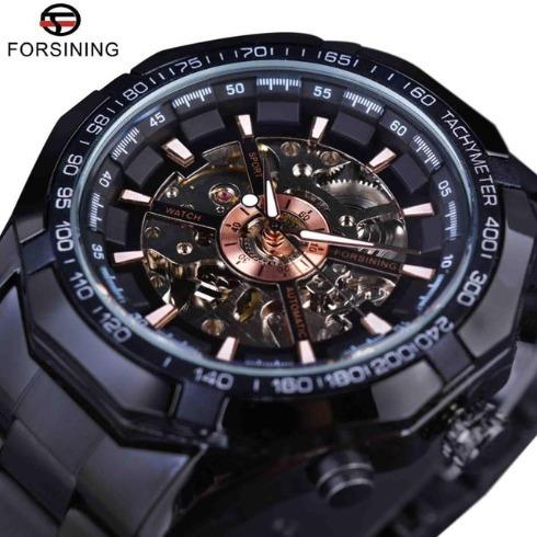 Relógio De Luxo Cor Preto Importado Frete Grátis