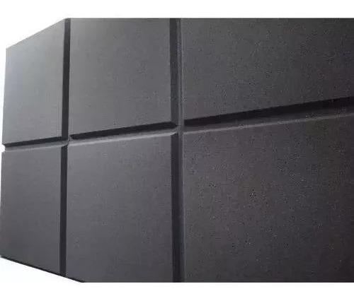 Espuma Acustica Kit 10 Placas Lisa 50 X 50 X 2 Cm Anti Chama