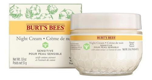 Crema Facial De Noche Burt's Bees Sensitive 51 Gr