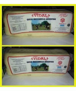 Muzzarella Vidal La Mejor,se Fracciona Plancha,5 Kg