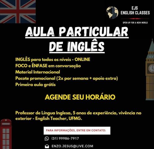 Imagem 1 de 1 de Aulas Particulares De Inglês, Online (2x Por Semana)