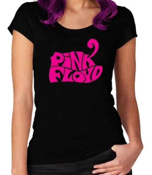 Remera Pink Floyd Mujer Rebel Label