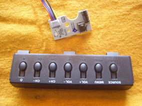 Teclado + Sensor Do Remoto Tv Led Cce Lt29g