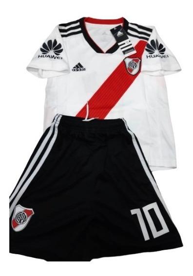 Conjunto De River Plate Titular Oficial Niño #10 G. Martinez