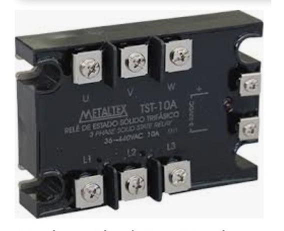 Relé De Estado Sólido Trifásico 10a Tst-10a 3-32vdc Metaltex