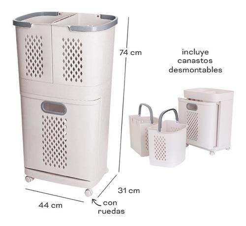 Cesto Canasto Organizador De Ropa Laundry Desmontable Ruedas