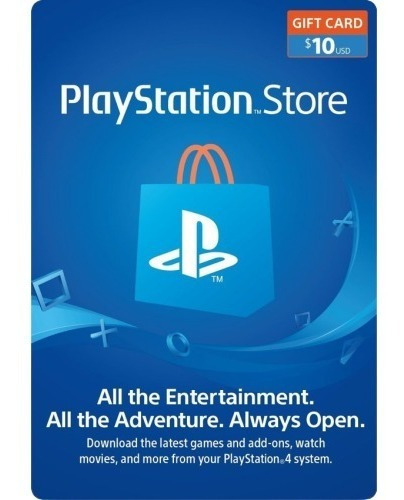 Psn Card 10 $ Usd Ps4 Code Vcs