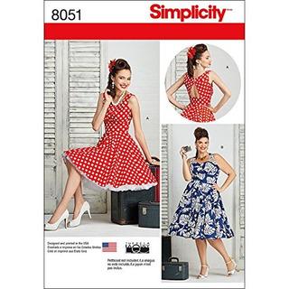 Simplicity Patrones De Costura Para Y Plus Tamano Vestidos T