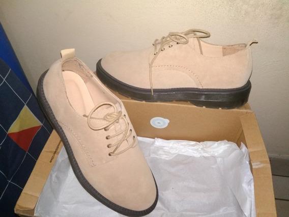 Zapatos De Casuales De Cuero Para Hombre Bershka #26 Mex