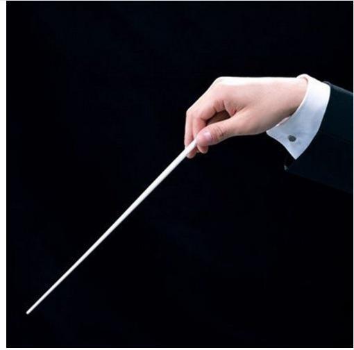 Batuta Maestro Encarregado De Orquestra Banda Coral Música