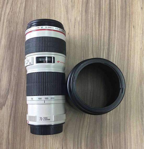 Lente Canon Zoom 70-200 F4 L + Estojo