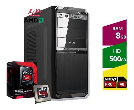 Pc Amd A6-7480, Hd 500 Gb, 8gb Memoria Ddr3 1600mhz