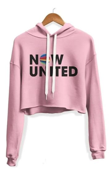 Cropped Now United Moletom Blusa Casaco Feminino Promoção