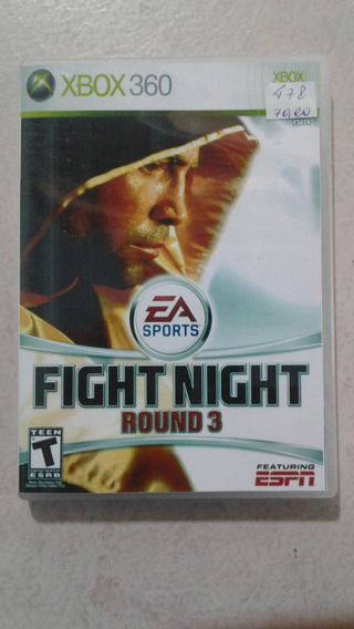 Fight Night Round 3 Xbox 360 Mídia Física