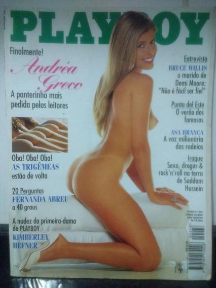 Revista Playboy 248 Andrea Greco Bruce Willis Abril Rjhm
