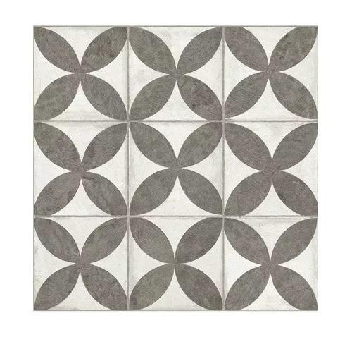 Cerámicas San Lorenzo Flower Black 45.3x45.3 10 Placas