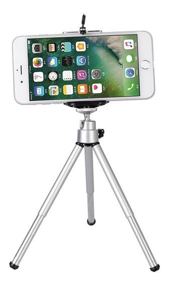 Tripé Para Celular E Câmera Em Alumínio De Mesa