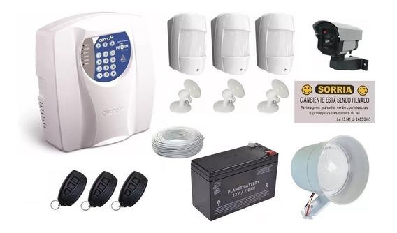 Kit Central Alarme Genno + Sensor Infravermelho Ib550 Pet