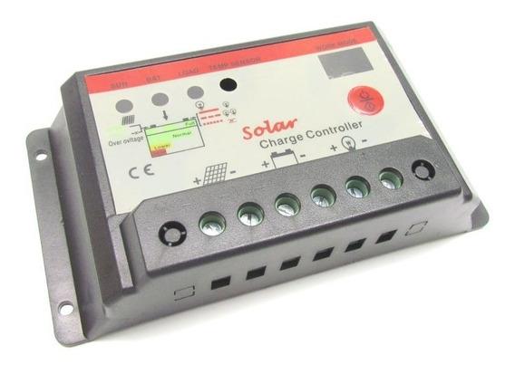 Controlador De Carga Painel Solar Pwm 10a 12v/24v Ysmart Top