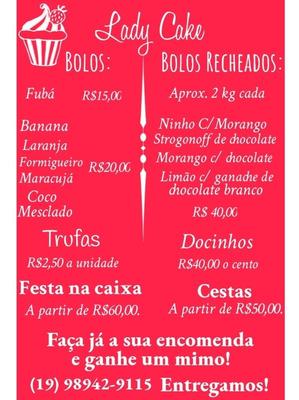 Bolos, Doces, Festa Na Caixa E Cestas!