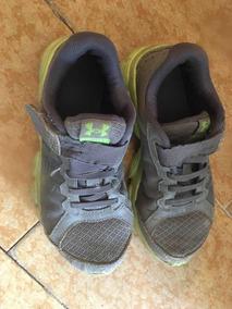 Zapatos Deportivos Paraniño Marca Under Armour Talla 32 Gris