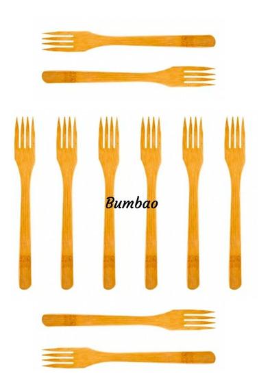 Tenedores De Bambu Ecológicos 20 Biodegradables Sustentable
