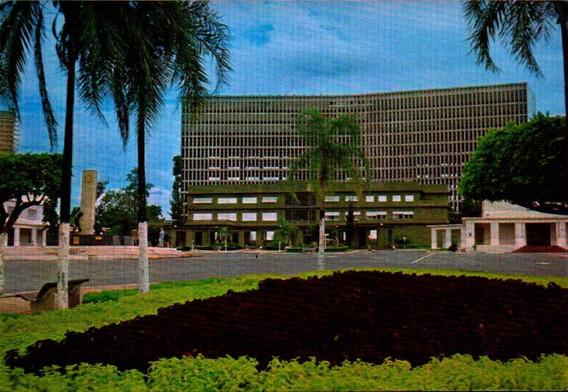 Gyn-4921- Postal Goiania, G O- Praça Civica E Palacios