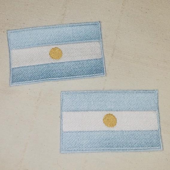 Parche Bordado Bandera De Argentina