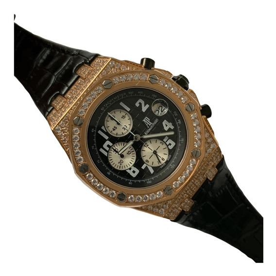 Reloj Audemars Piguet Royal Oak Offshore Cristales Piel 385a
