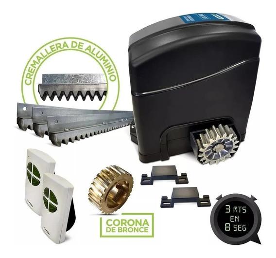 Kit Motor Porton Corredizo Rap Cremallera Metal Trino Soft