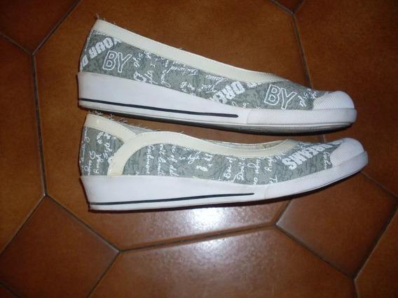 Zapatos Chatitas De Tela, 40 1/2 - 27cm Plantilla .congreso