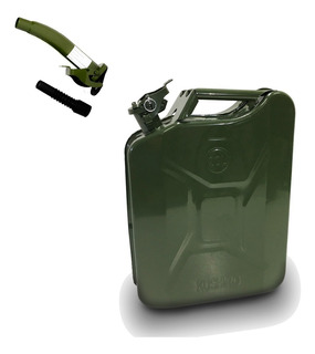 Bidón Metálico Combustible 20 Lts + Pico Vertedor Kushiro