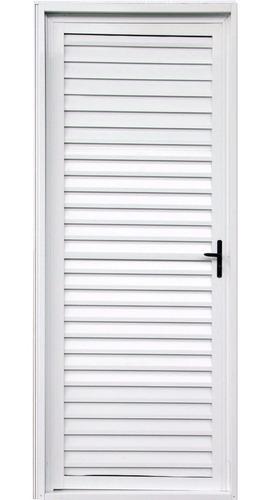 Porta Palheta De Alumínio Branco 2,10 X 0,80 Direita
