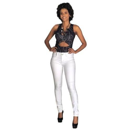 Calça Jeans Feminina Cintura Alta Com Lycra Lança Perfume