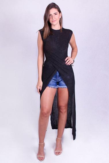 Blusa Longa Top Orange-102606 - Asya Fashion