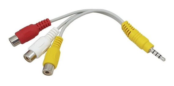 Adaptador P3 X Rca Para Tv Philco Ph19t21dgr, Ph24t21dmtb,