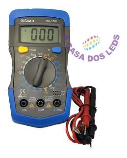 Multímetro Digital Profissional Exbom C/ Beep E Iluminação