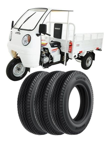Combo 3 Pneus Dayun Triciclo Dy200 Zh 450-12 Ls46 Rinaldi