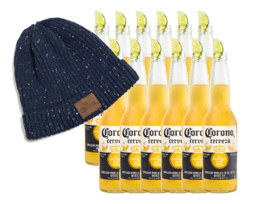 Cerveza Corona 355ml X12 + Gorro Corona