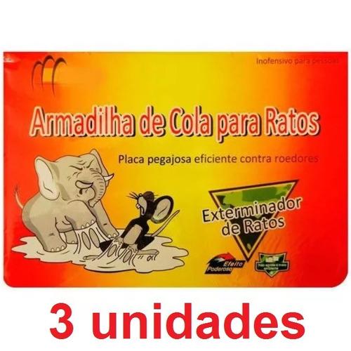 Kit 3 Unidades Ratoeira Adesiva Rato Armadilha Outlet Oferta