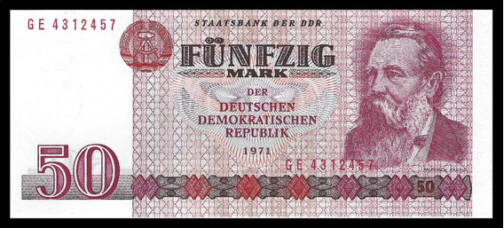 Alemania, Democratica, 50 Mark, 1975. P#30. Engels. Unc