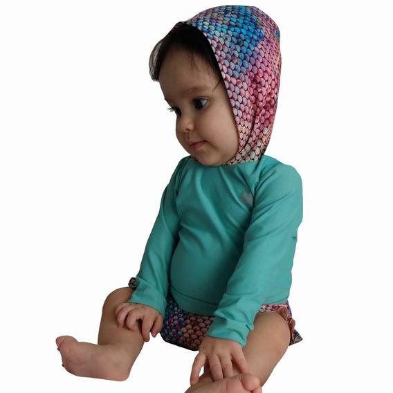 Conjunto Para Bebê Com Proteção Solar Uv 50- 3 A 15 Meses