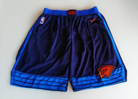 Short Nba Oklahoma Thunder Westbrook George Azul Escuro