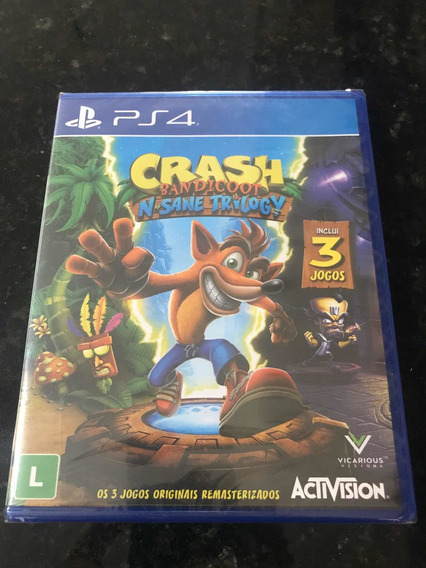 Jogo Ps4 Crash Bandicoot N Sane Trilogy Original Lacrado