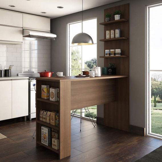 Bancada Mesa Para Cozinha Com Painel Suprema Siena Jf