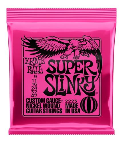 Imagem 1 de 5 de Encordoamento Ernie Ball Super Slinky 009 Guitarra 2223