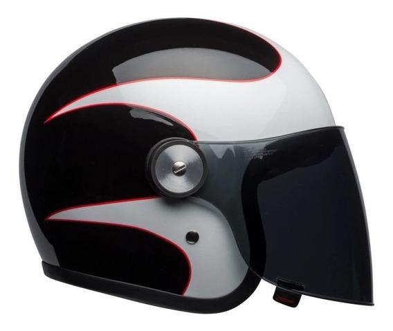 Capacete Bell Riot Boost Branco/preto/vermelho